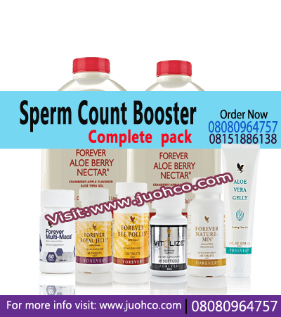 Sperm Count Booster Pack Combination - Male Fertility