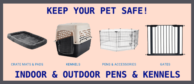 Indoor and outdoor pens for dogs and puppies