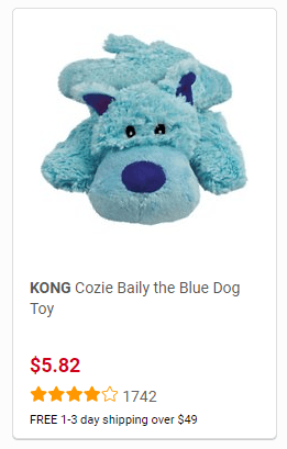 KONG Baily the Blue Dog Toy
