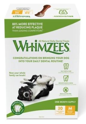 Whimzees are effective at reducing plaque.