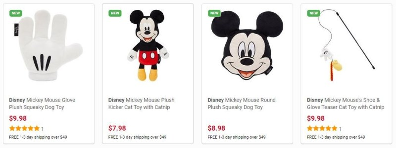 Sample of over 70 Disney Toys in The Disney Collection At Chewy