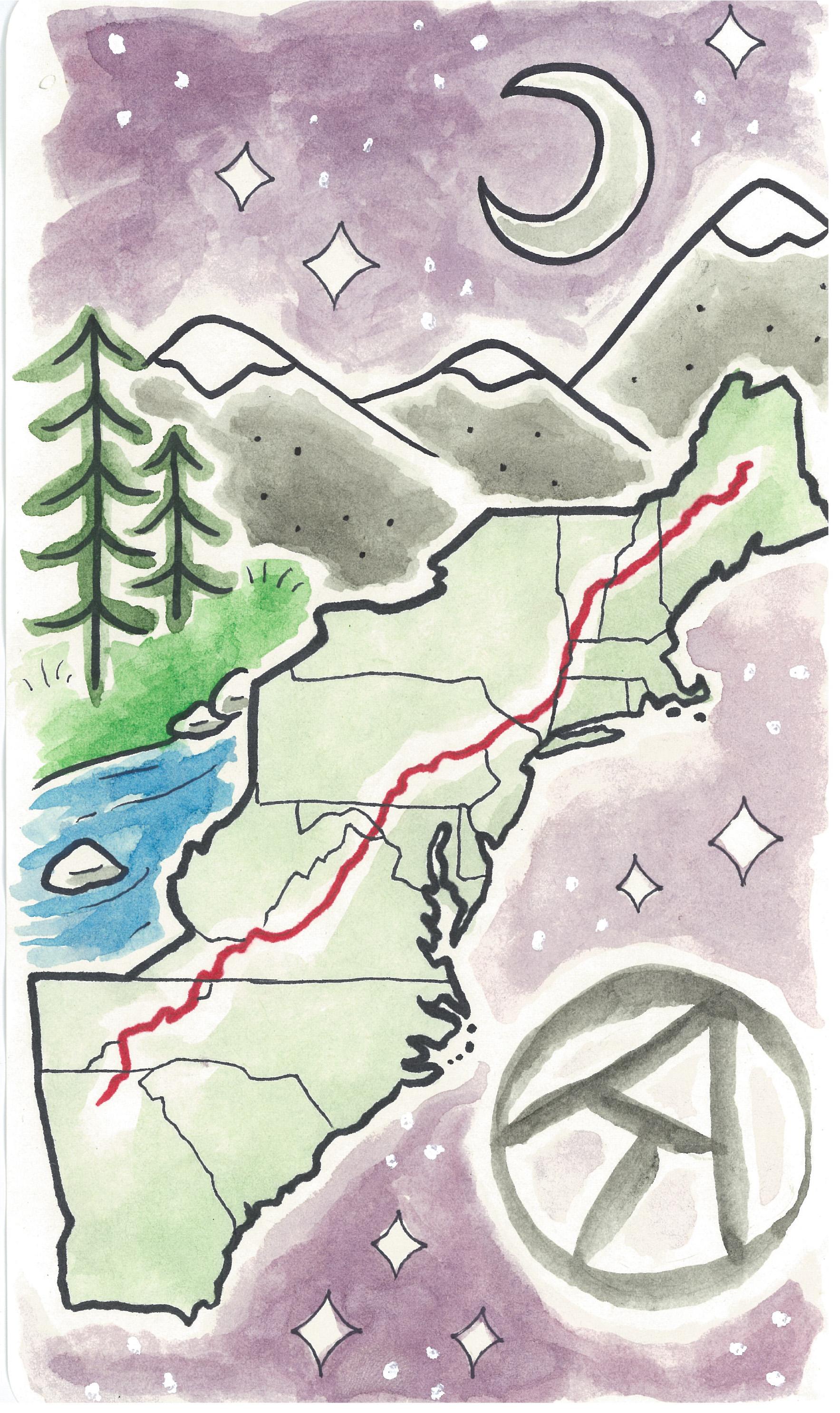 Appalachian Trail Map Print – jupiterhikes