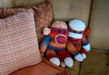 Jupiter Sock Monkeys knitted in the Atlantic, are visiting the Pacific