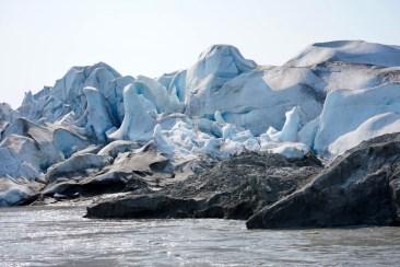 Push moraine at the terminus of the Taku glacier