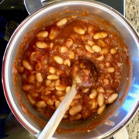 Cannellini Beans in tomato sauce