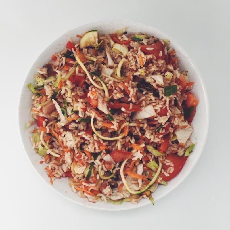 Burrito Bowl high carb low fat vegan