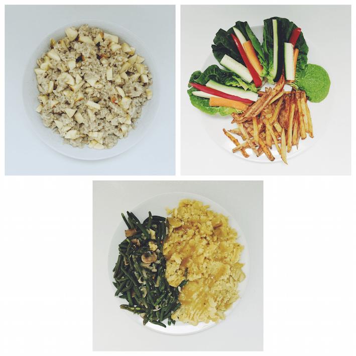 High Carb Food Diary vegan