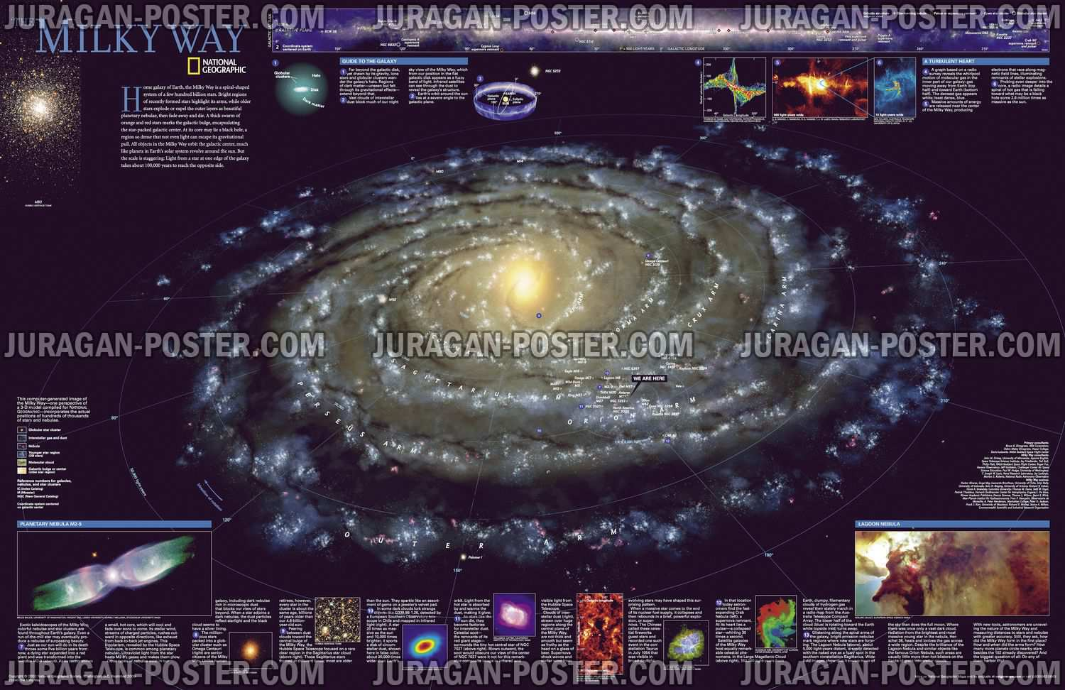 National Geographic The Universe And Solar System Maps