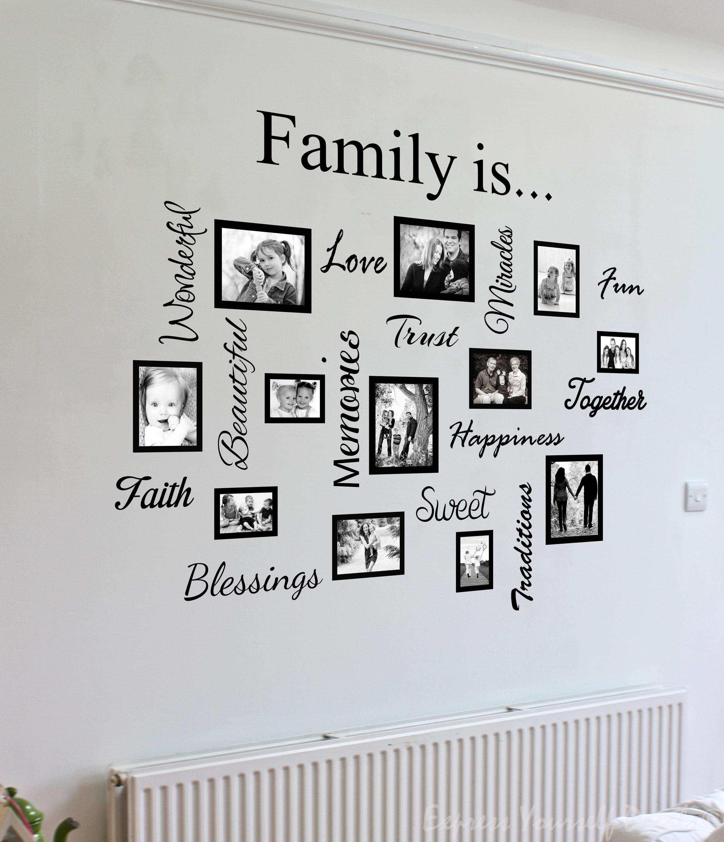 Hiasan Dinding Kamar dengan Foto Keluarga  Jual Poster di