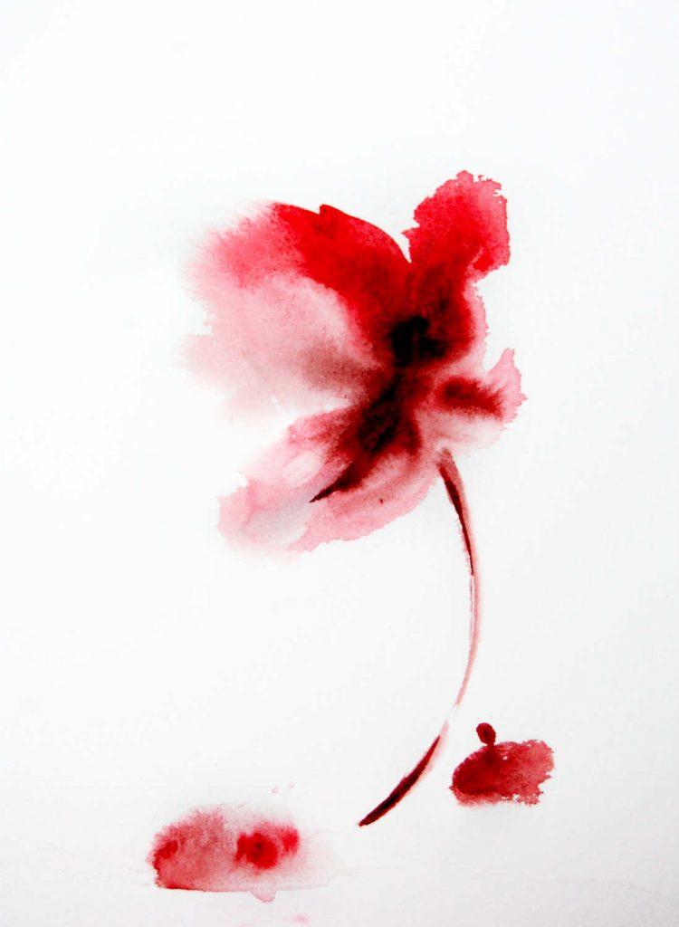Lukisan Bunga Simple  Jual Poster di Juragan Poster