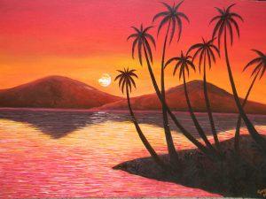 8500 Koleksi lukisan pemandangan pantai yang mudah ditiru Terbaru