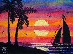Lukisan Pemandangan yang Mudah Ditiru  Jual Poster di