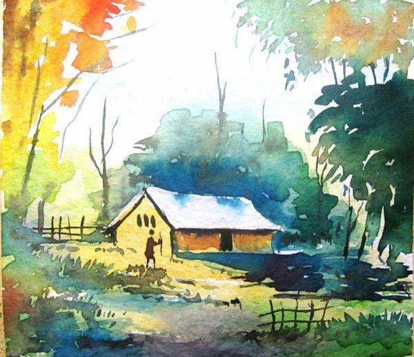 Lukisan Pemandangan Alam Yang Mudah Ditiru Imgurl