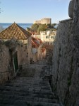 The mighty stairs of Dubrovnik and fort Lovrijenac guarding over the Old town