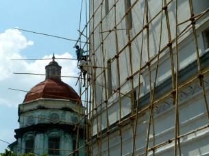 Myanma Port Authority Building undergoing restoration work