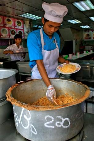 Fast food biriyani in Yangon