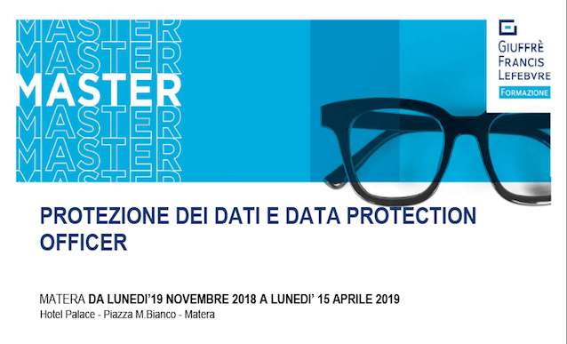 "Master Privacy "" Protezione dei Dati e Data Protection Officer"""