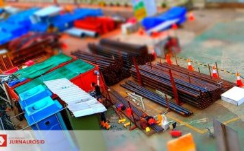 Miniatur Jakarta: Konstruksi MRT di sekitaran Bundaran HI