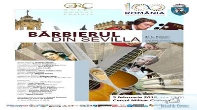 Opera Romana Craiova sustine pe scena Cercului Militar opera Barbierul din Sevilla 1