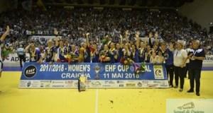 Handbal / Cupa E.H.F. : SCM Craiova pastreaza Cupa la Craiova 3