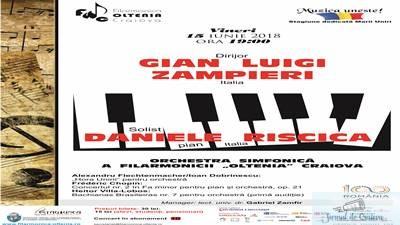 Concert Chopin cu tanarul pianist italian Daniele Riscica la Filarmonica Oltenia Craiova 1