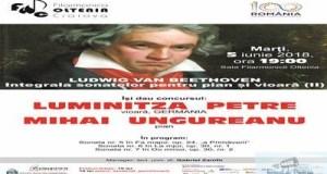 """Integrala sonatelor pentru pian si vioara, partea a II-a,  cu pianistul Mihai Ungureanu si violonista Luminitza Petre la Filarmonica """"Oltenia"""" Craiova 8"""