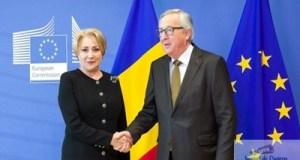Viorica Dancila se intalneste astazi cu presedintele Comisiei Europene, Jean-Claude Juncker, la Bruxelles 11