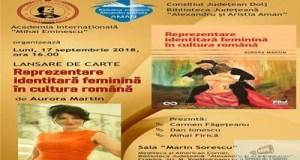 Lansare de carte la Aman : Reprezentare identitara feminina in cultura romana 14