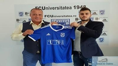 Fotbal : Marcel Puscas a semnat contractul cu FC U Craiova 1