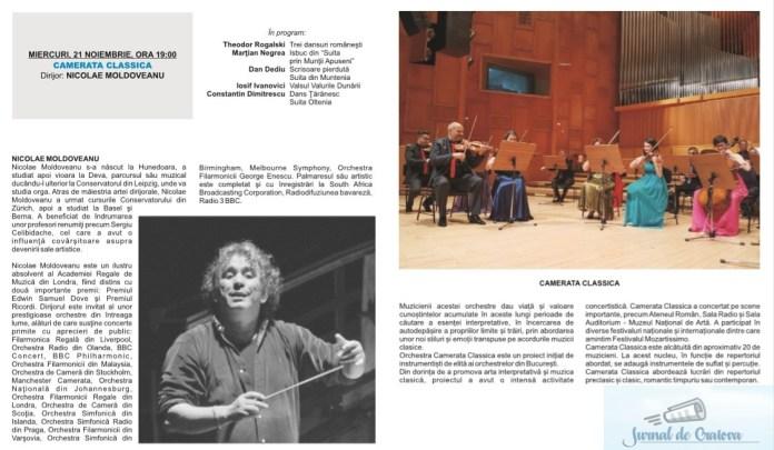 """Filarmonica Oltenia Craiova : DE ASTAZI INCEPE FESTIVALUL INTERNATIONAL """"CRAIOVA MUZICALA"""" Editia 45 Romaneasca (19 noiembrie – 1 decembrie 2018) 4"""