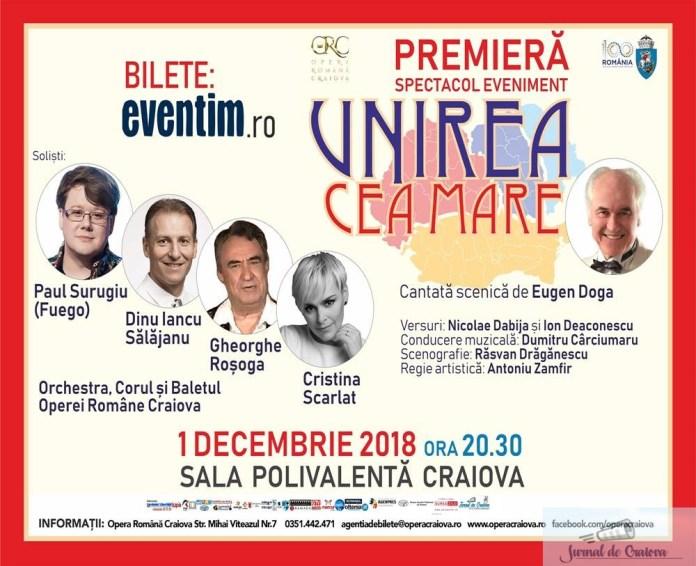 Paul Surugiu (Fuego), la Opera Romana Craiova in cadrul spectacolului Unirea cea Mare 2
