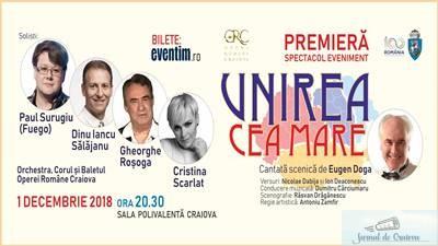 Paul Surugiu (Fuego), la Opera Romana Craiova in cadrul spectacolului Unirea cea Mare 1
