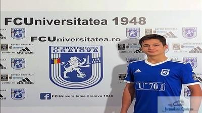 Fotbal : Mario Enache este noul jucator al echipei Universitatea Craiova