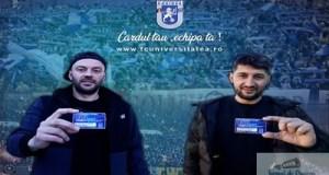 Fotbal : Premiera in Romania ! Jucatorii echipei Universitatea Craiova , Florin Costea si Mihai Dina si-au achizitionat Cardul de Fidelitate ! 14