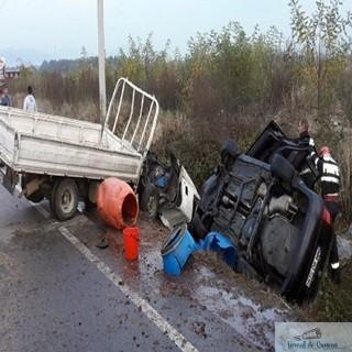 Accident:Se circula ingreunat pe Autostrada A1, Bucuresti-Pitesti. Cinci autoturisme au facut accident 1