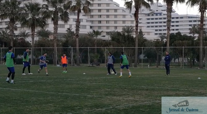 Fotbal : Nicolo Napoli a intrat la joc azi in antrenamentul echipei Universitatea Craiova din Antalya 1
