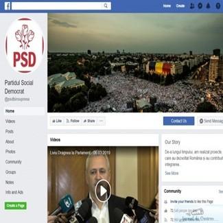 Anunt Facebook: Propaganda PSD este eliminata din retea. 1