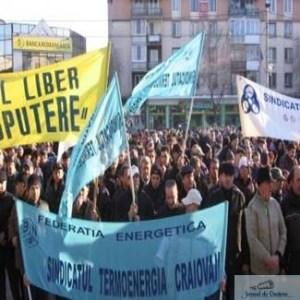 Sindicalistii din Dolj au participat la mitingul din Capitala 1