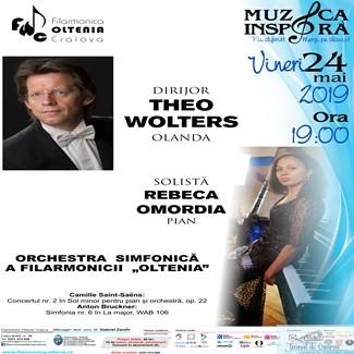 Concertul nr. 2 de Saint-Saens, cu Rebeca Omordia la pian  si Theo Wolters la pupitrul dirijoral 1