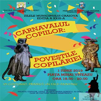 1 Iunie cu personaje de poveste la Carnavalul copiilor, in Piata Mihai Viteazu 1