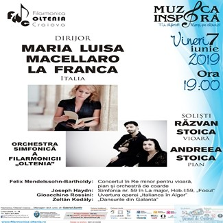 """Răzvan Stoica, Andreea Stoica şi vioara Stradivarius """"The Queen"""" pe scena Filarmonicii """"Oltenia"""" Craiova 1"""