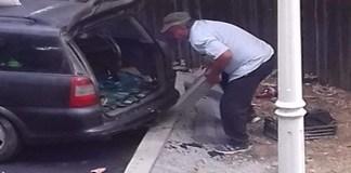 Surprins de politisti in timp ce fura borduri din Craiova