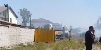 Incendiu de vegetatie uscata in Balta Verde