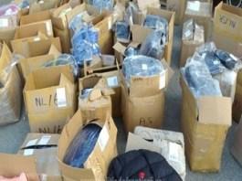 Textile susceptibile a fi contrafacute, descoperite de politistii de frontiera doljeni