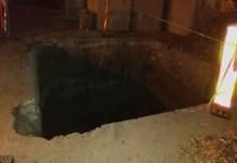 Un barbat a cazut intr-o groapa de trei metri adancime in Craiovita