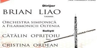 Filarmonica Oltenia Craiova : Concert flaut-oboi cu duo Cătălin Opriţoiu/Cristina Ordean sub bagheta lui Brian Liao din Taiwan