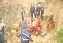 Barbat, prins sub un mal de pamant in comuna Varvorul de Jos