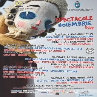 Week-end cu spectacole si campania O poveste pentru fiecare, la Teatrul Colibri