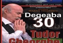 """Festivalul Craiova Muzicala 2019 se deschide vineri cu spectacolul Tudor Gheorghe/""""Degeaba 30"""""""