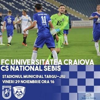 Fotbal : Universitatea Craiova joaca ultimul meci din 2019 !
